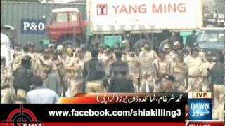 Karachi: Rangers Open fire on the central Yum-e- Ali(a.s) Juloos.