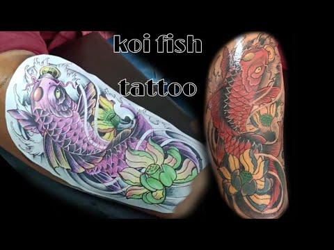 Koi Fish Tattoo/tattoo A Koi Fish Colour Full