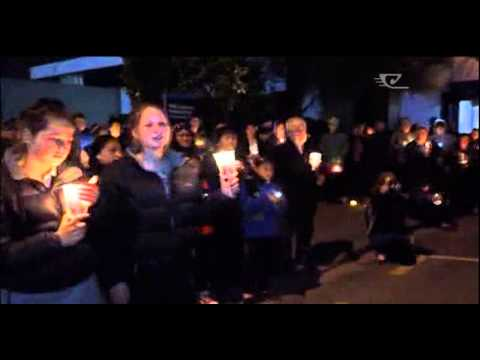 Ashburton holds candlelight vigil for shooting victims
