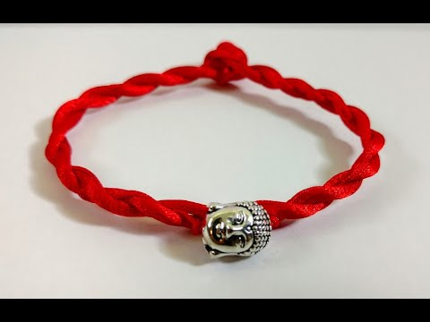 7ca81391d90f6b How to make a Red String Bracelet with Thai Buddha Lucky Charm ( Under 5  minutes)