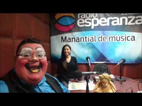 Payaso Cristiano en Monterrey Entrevista Chocolate y Mamà Eva en Radio Esperanza