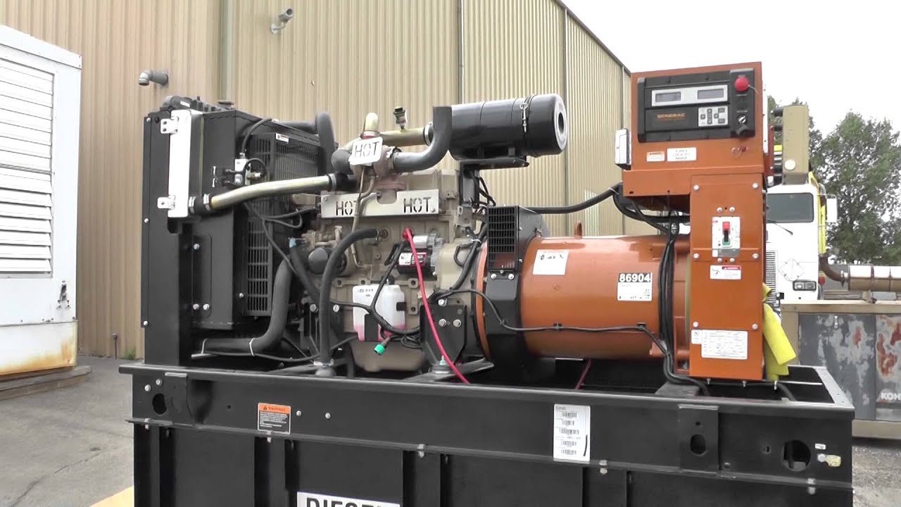 60 kW Generac Diesel Generator – Standby Surplus Genset