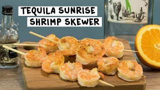 Tequila Sunrise Shrimp Skewer