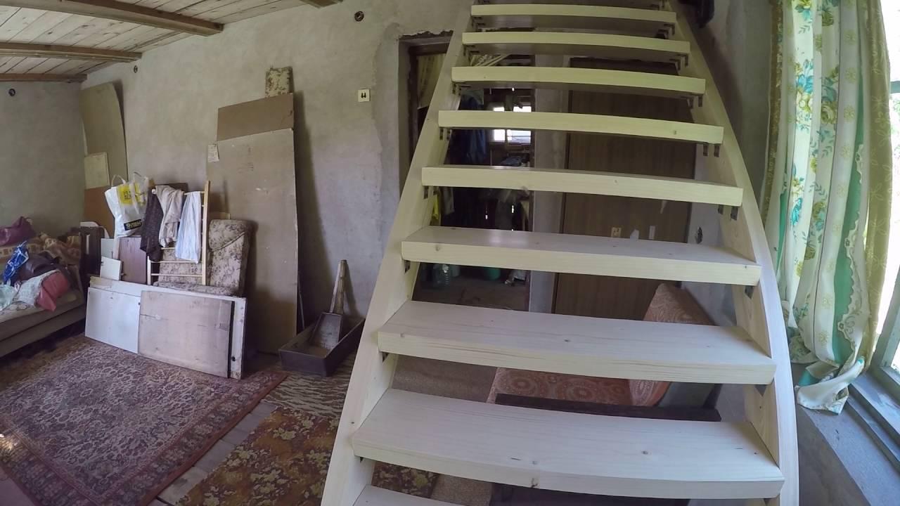 Дачную лестницу на второй этаж своими руками фото 270