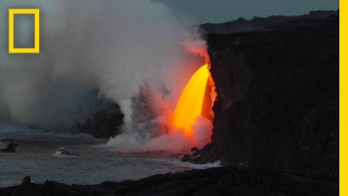 Spectacular Lava  Waterfall  Pours Into the Ocean | National Geographic