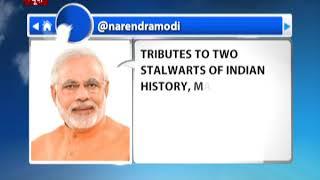 PM paid tributes to Maulana Abul Kalam Azad and Acharya JB Kripalani on their Birth Anniversaries .