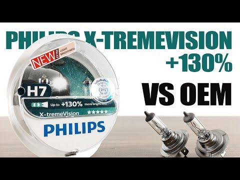 Philips XtremeVision 130% vs OEM / Original Headlight Bulbs Comparison