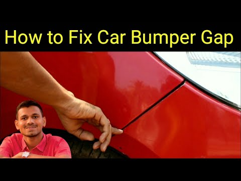 how to fix car bumper gap