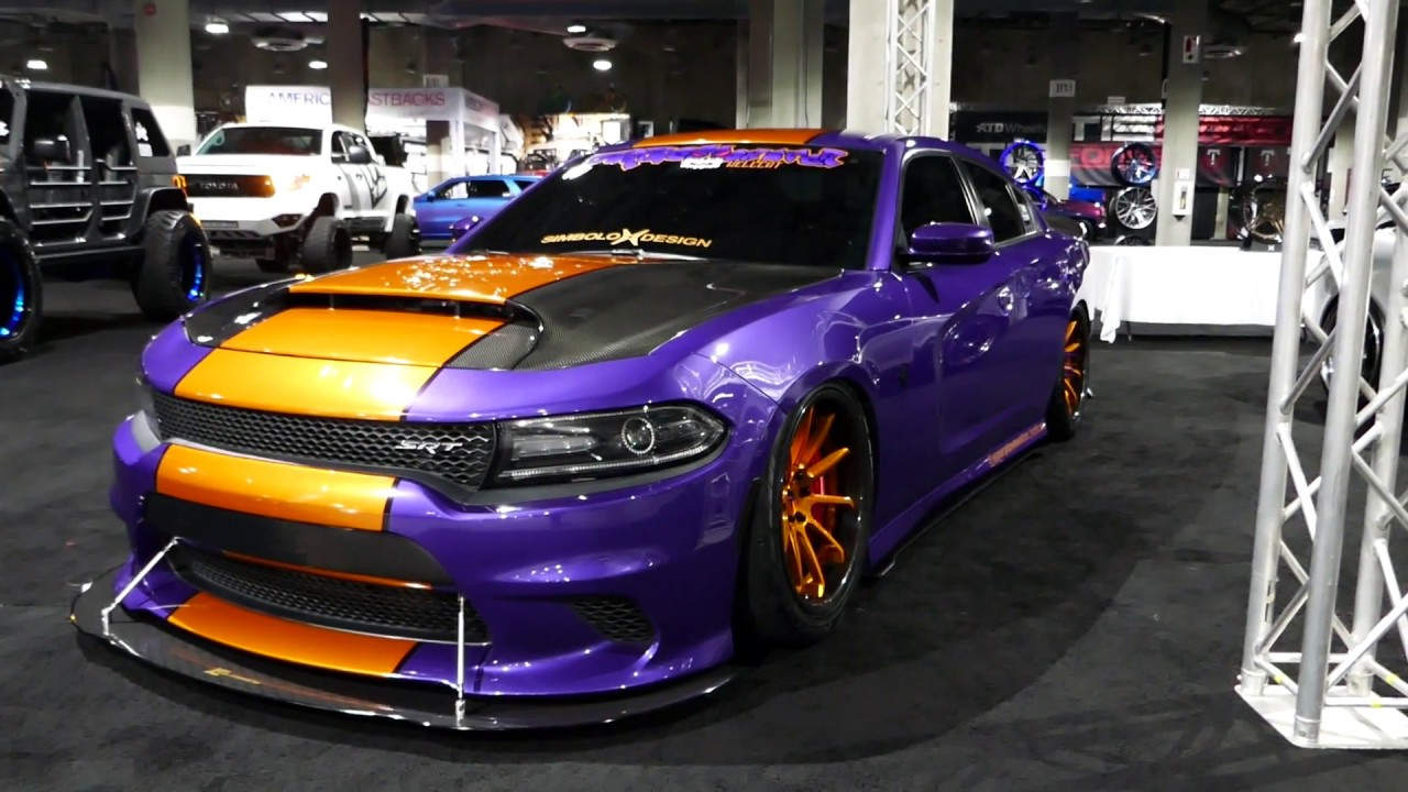 Crazy Custom Dodge Charger - Purple, Orange & Black Paint ...