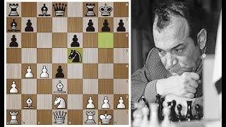Виктор Корчной Жертвует пешку ради вторжения в Обжорный ряд Шахматы