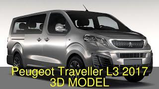 3D Model of Peugeot Traveller L3 2017 Review