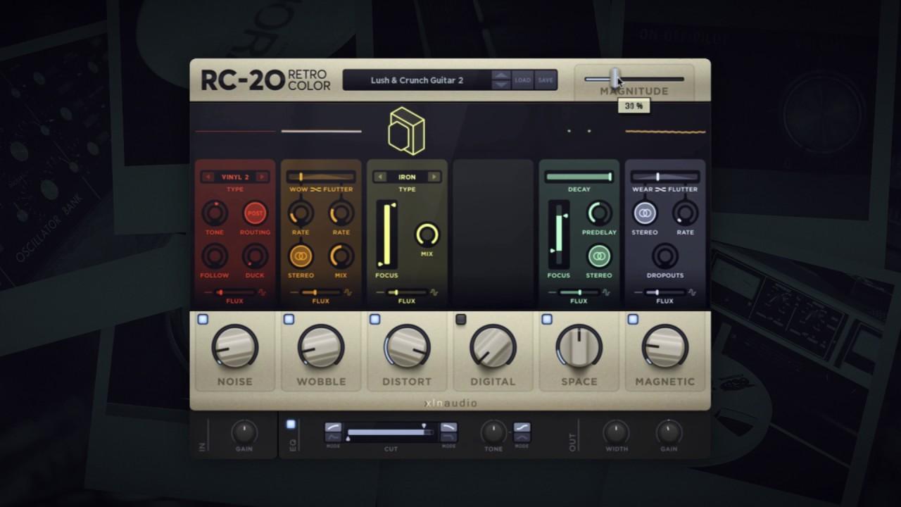 JRRshop com   XLN Audio RC-20 Retro Color Plugin VST/AU/AAX