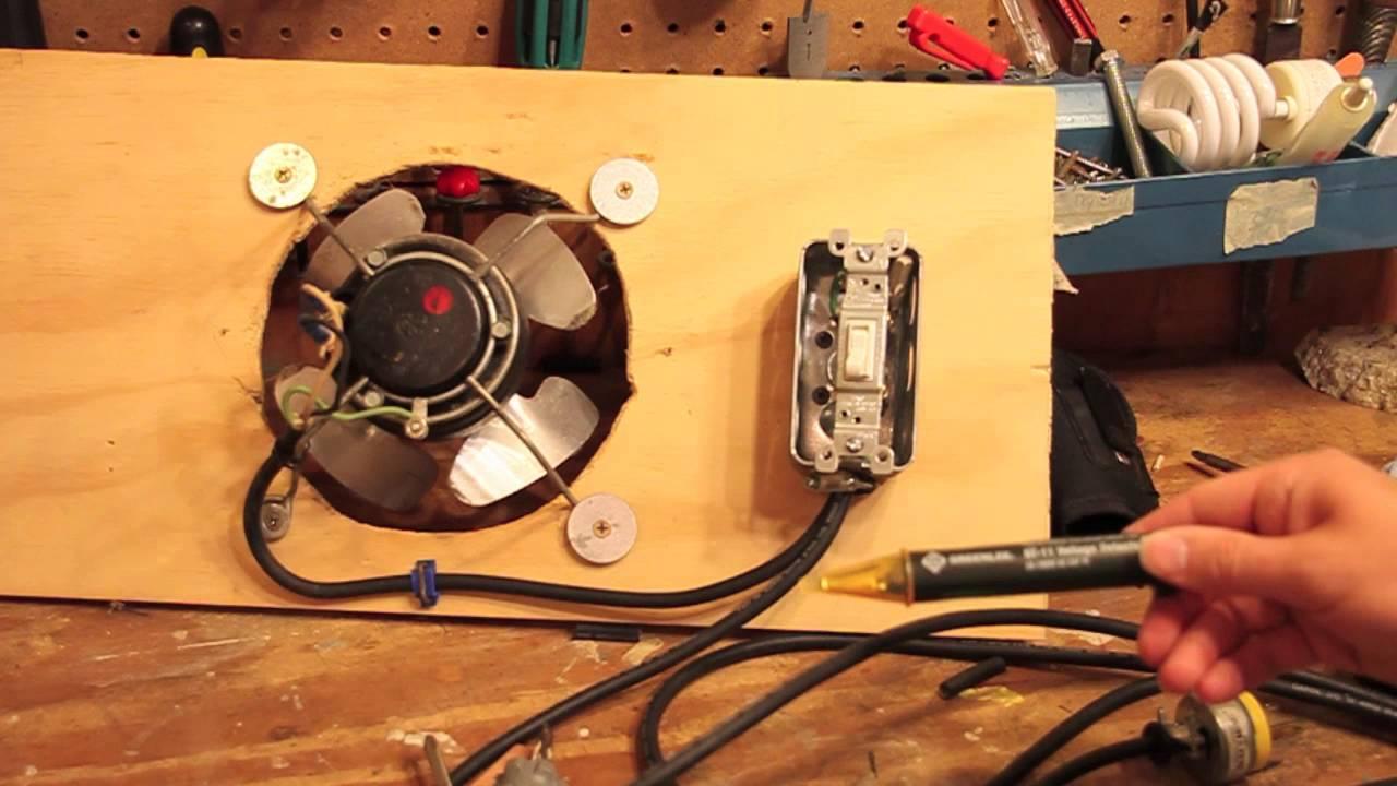 Add switch to exhaust fan youtube - Bathroom exhaust fan control switch ...