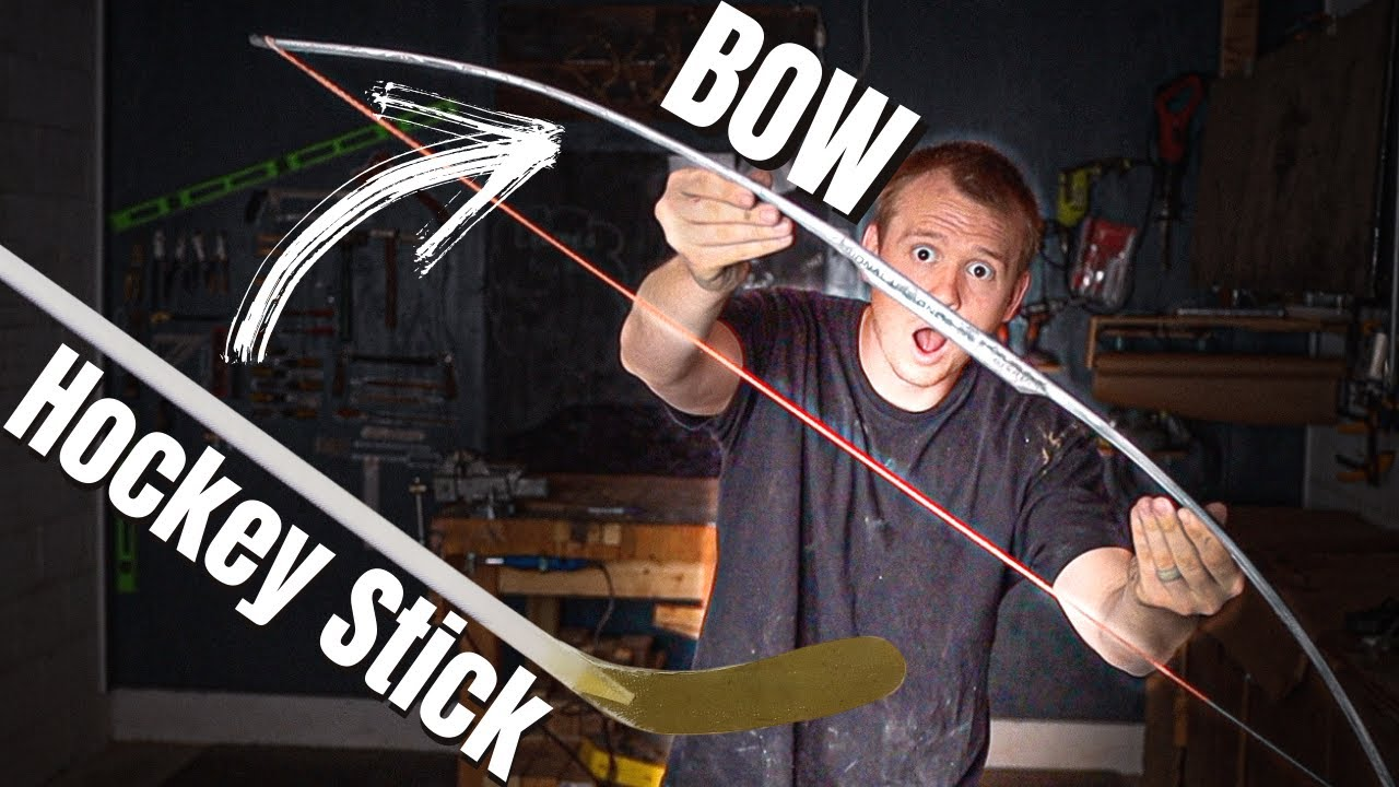 HOCKEY STICK BOW---Attempting To Make A Bow Out Of A Hockey Stick---WILL IT BOW??? (EP.5)