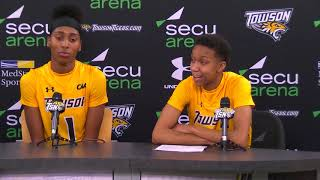 Towson Women's Basketball Comments on Their Success Over Northeastern