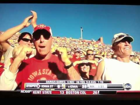 Iowa State leads Iowa in the second quarter of the Cy-Hawk game ...