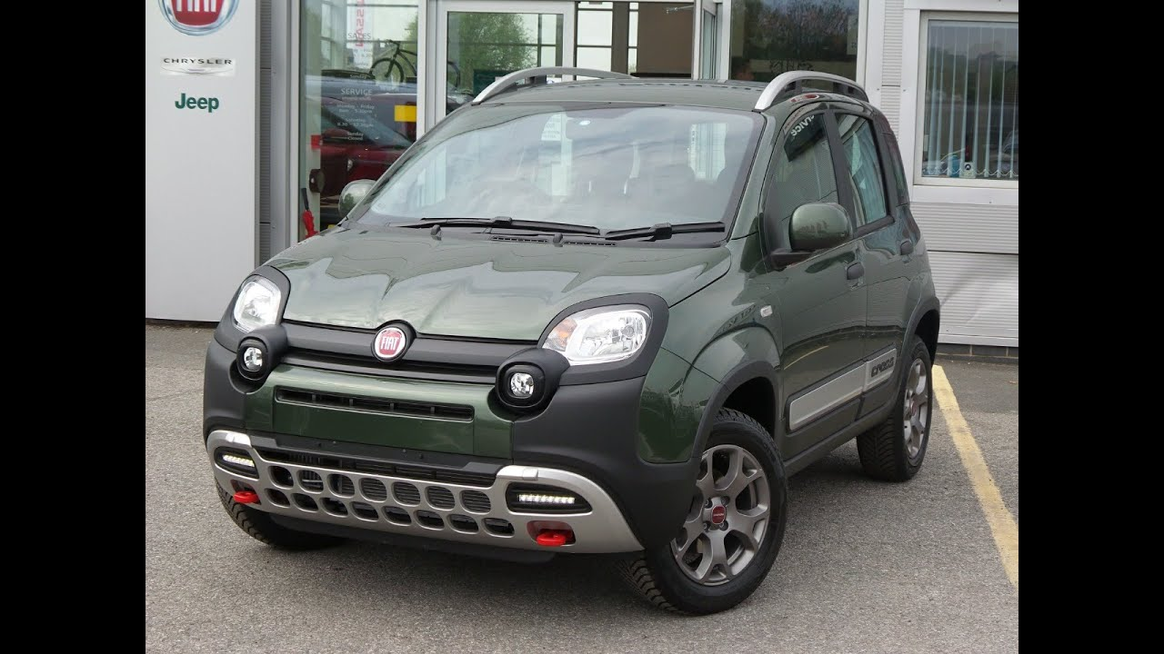 2016 16 fiat panda 0 9 twinair 90 cross 4x4 5dr in green youtube. Black Bedroom Furniture Sets. Home Design Ideas