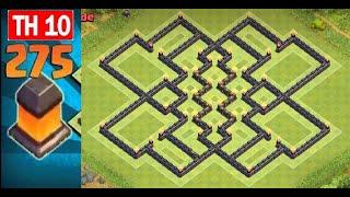 Clash Of Clans (TH10) *NEW* Dark Elixir Farming Base (275 Walls) Unique Design Layout   Speed Build