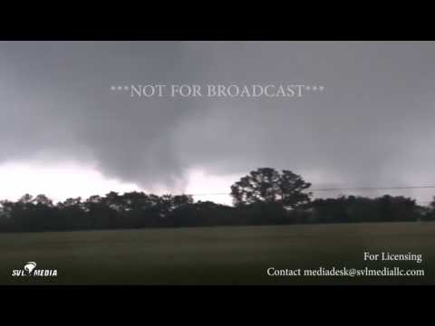Eustace, TX Extreme Violent Twin Tornadoes Close Range 4 29 2017