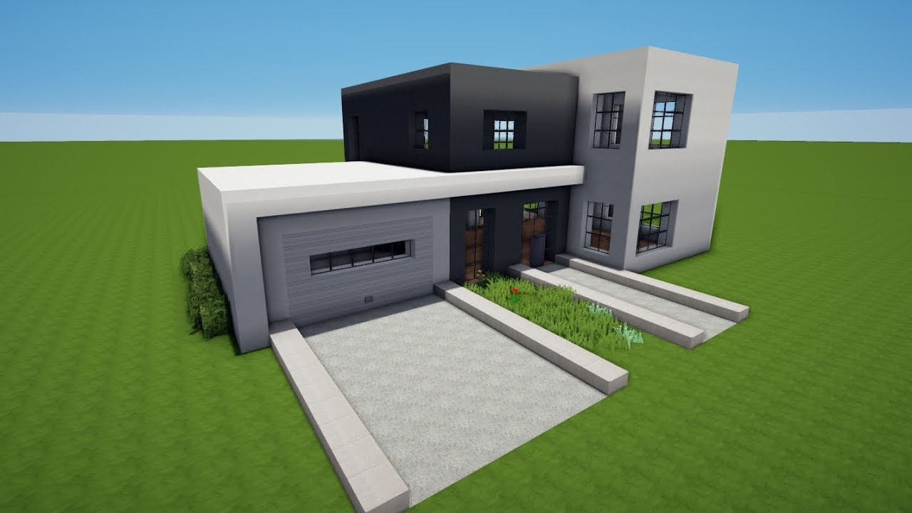 Minecraft modernes haus mit garage bauen tutorial haus 75 for Minecraft modernes haus 20x20