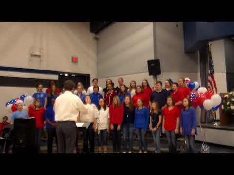 Pierce County Middle School Chorus performance at Patterson Elementary Veteran's Day