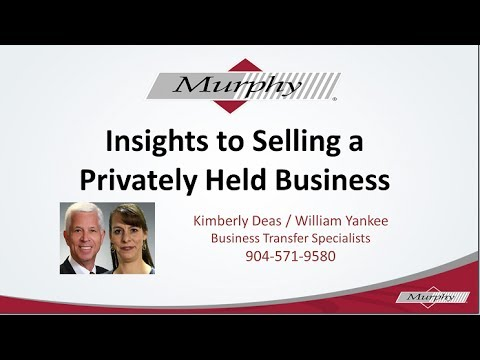 How to sell a privately held business or company - Jacksonville Florida