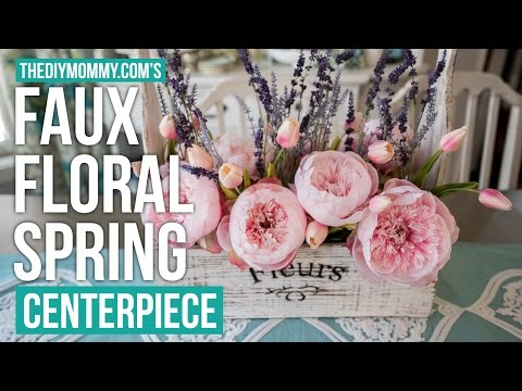 Spring DIY + Decor Challenge | Farmhouse Faux Floral Spring Centerpiece