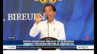 (FULL) Sambutan Jokowi Dalam Acara Kenduri Kebangsaan Aceh