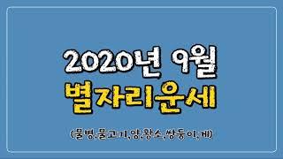 운세 [2020년 9월 별자리 운세]물병,물고기,양,황소,쌍둥이,게