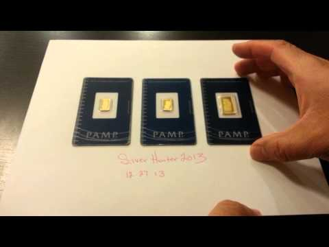 24K PAMP 999.9 Fine Gold Bullion Bars - 4.5 Grams