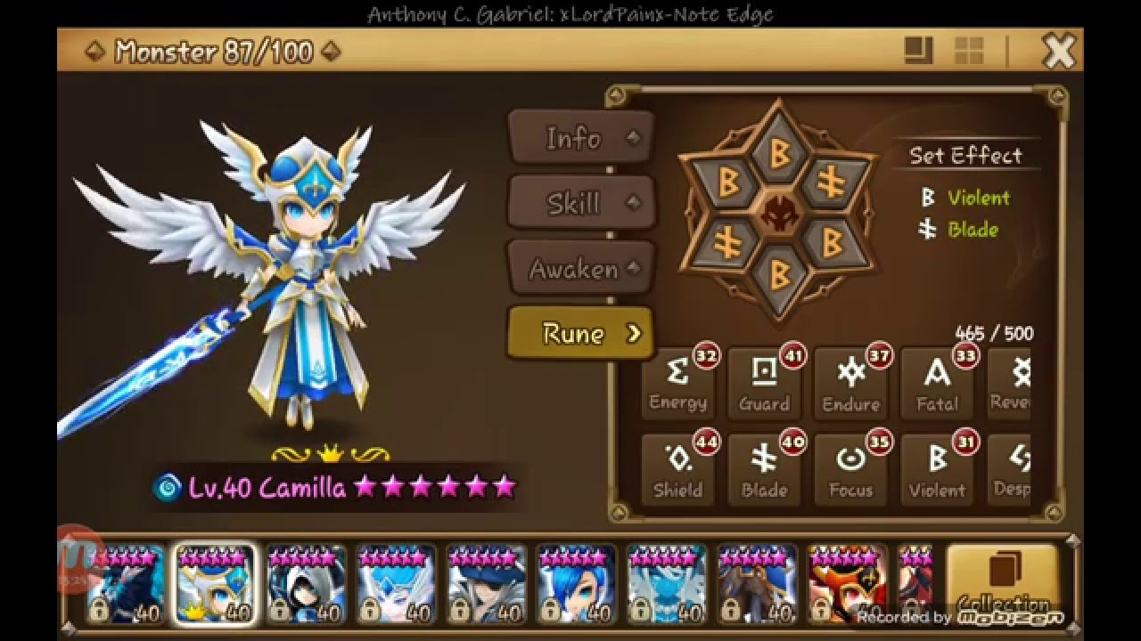 Lapis (Water Magic Knight) Runes ... - Summoners War Guide