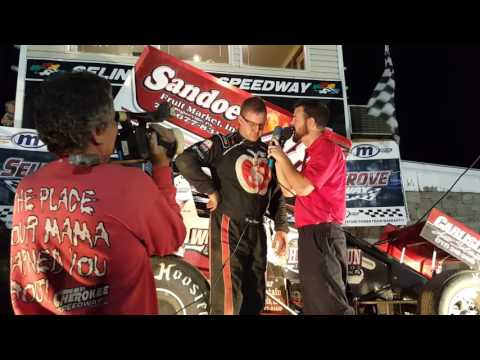 Selinsgrove Speedway 410 Sprint Car victory Lane 07-03-16