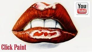 Как нарисовать губы Drawing realistic glossy lips(В этом видео я рисую губы используя цветные карандаши и не только - это легко повторить. Попробуйте и у вас..., 2015-06-19T16:36:12.000Z)