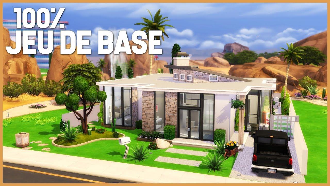 Creation Sims 4 Maison 100 Jeu De Base Speed Build Defi Youtube