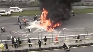 Lamborghini Cháy Dữ Dội ở đường đua