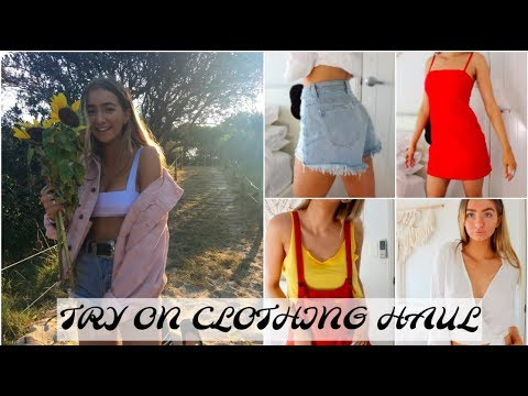 6cd66446f TRY ON CLOTHING HAUL | PRINCESS POLLY