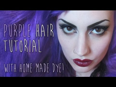 How To Make Your Own Purple Hair Dye Youtube