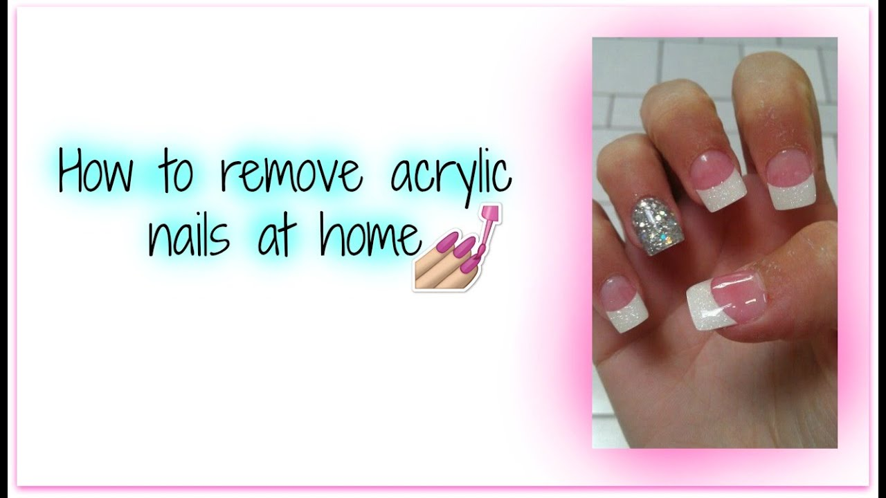 How to remove acrylic nails at home DIY - YouTube