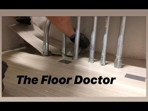 Install Vinyl Flooring Around Pipes, How To Install Laminate Flooring Around Radiators