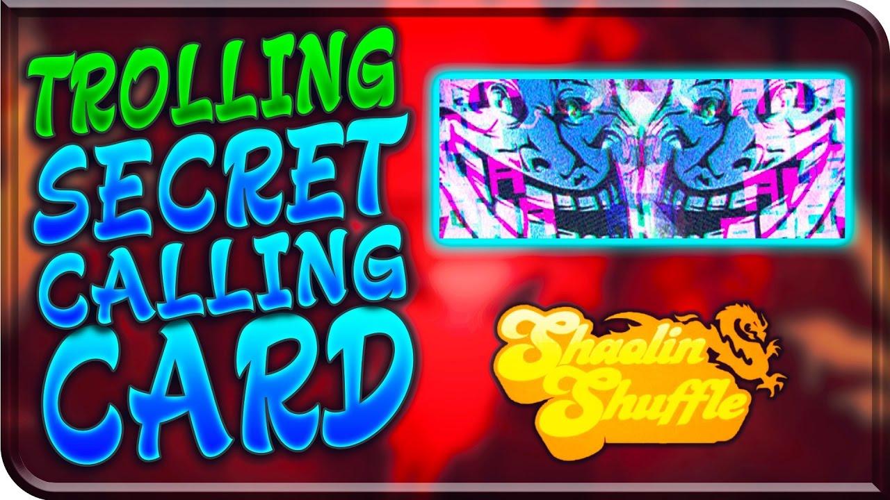 SHAOLIN SHUFFLE Hunting SECRET TROLL CALLING CARD Secret Soul Challenge