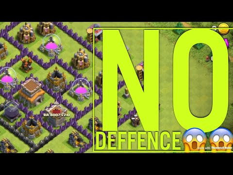 A village without defense?? - Clash of clans-