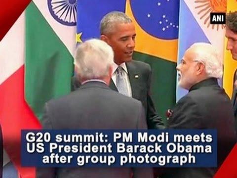G20 summit: PM Modi meets US President Barack Obama after group photograph - ANI News