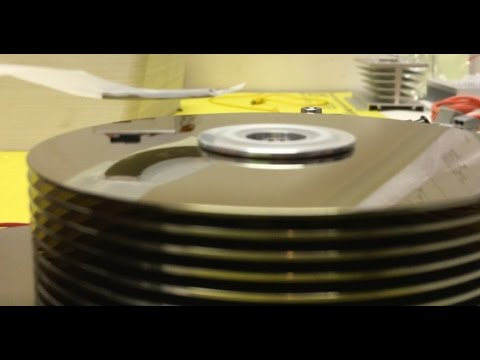 Spinning an open Hard Drive [ Magnetic Levitation ] / (Lenz's Law Demo)