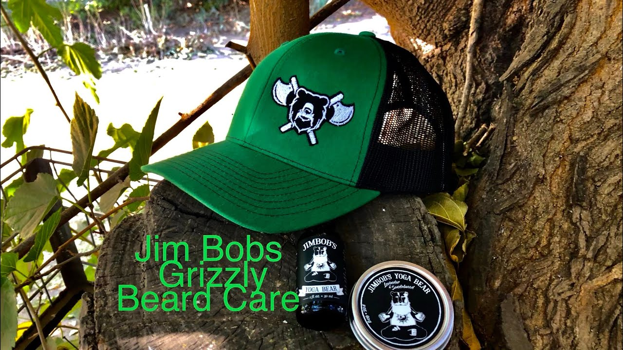 Review of Jim bobs grizzly beard care oil,  balm In Yoga Bear!