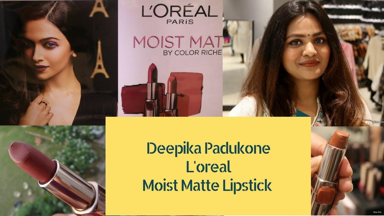 Deepika Padukone Loreal Moist Matte Lipstick Shades