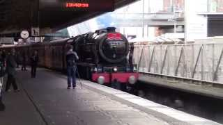 LMS Royal Scot 46115 Scots Guardsman at Nottingham Railway Station with