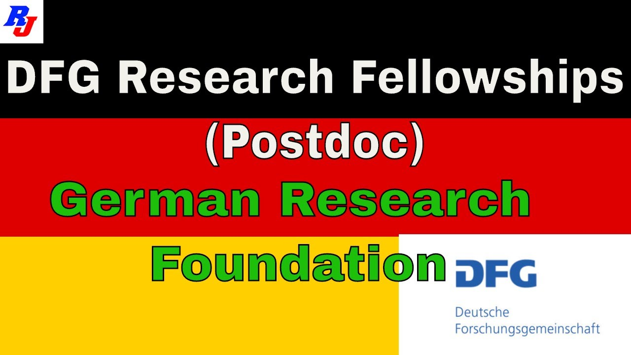 Research Fellowships (Postdoc) - DFG, German Research Foundation