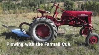Farmall Cub Plowing