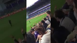 Charleroi-Anderlecht sfeer titelfeest