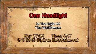 The Wallflowers - One Headlight (Backing Track)